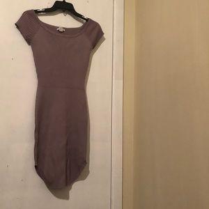 Lavender off the shoulder midi dress never worn